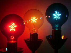 "Light Bulbs - G25 Globe ""Starlite"" Bulb - Color Variety"