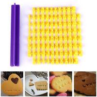 Alphabet Lettre numéro biscuit cookie coupeur presse tampon mouler gâteau`FR