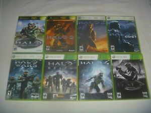 Halo Games (Original Microsoft Xbox & 360) Tested Works Great With Case