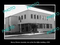 OLD LARGE HISTORIC PHOTO OF HARVEY WESTERN AUSTRALIA, THE POST OFFICE c1950