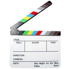 Movie Film TV Slate Clapper Board Dry Erase Clapboard Cut Action Scene Decor