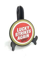 "Vintage ~ LUCKY STRIKES AGAIN Cardboard Coaster ~ 4"" dia ~ NEW OLD STOCK"