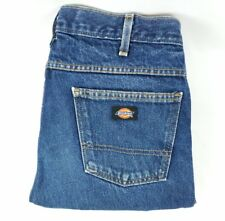 Dickies mens tag size 36x34 regular straight blue jeans 35x36 MEASURED A31-8