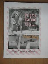 BRIGITTE BARDOT Enveloppe NEUVE AFFRANCHIE prêt à poster SAINT TROPEZ