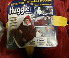 Huggle Hoodie, Ultra Plush Hooded Blanket Robe, Premium Fleece, brand new