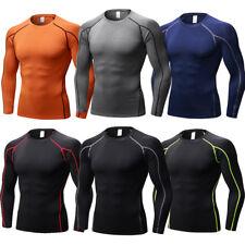 Мужская компрессионная одежда спортивные футболки с длинным рукавом базовые слои туго быстросохнущая
