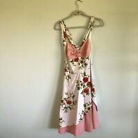 Ayli White and pink floral print dress Size 3XL Womens