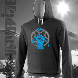 Viva la revolution bike hoodie, mountain bike, mtb, dh, xc, cycling, hooded top