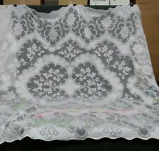 "Vintage Completely hand made Needle Lace Tablecloth 92"" x 70"" Great Britain made"