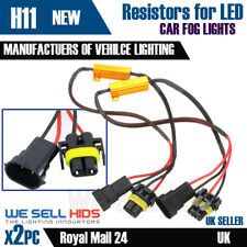 H11 LED Light Fog DRL No Error Resistor Canbus Warning FREE AUDI BMW VW GOLF A3