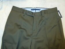 Incotex Super 100's Wool Dress Pants NWT $375 30 waist Dark Olive Green