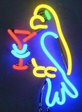 Parrot Margarita Neon Sign Sculpture Tabletop or Wall Mount Bar Den 8 x 17 x 6