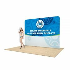 10ft Single Sided Straight Back Wall Display with Custom Fabric Graphic