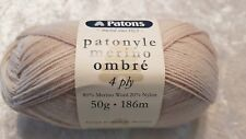 Patons Patonyle Merino Ombre 4 Ply #3335 Driftwood Sands Sock Yarn 50g