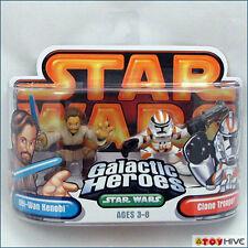 Star Wars Galactic Heroes Obi-Wan Kenobi & Clone Trooper - orange pack 2 figures