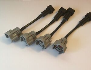 PnP Adapter to Injector Dynamics ID2000 for Acura RSX / 02-11 Civic Si set of 4