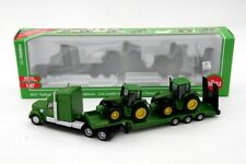 1:87 Siku 1837 Low Loader With 2 John Deere Tractors Toys Hobbies Car Collection