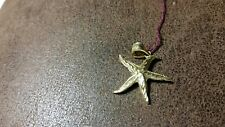 14KT YELLOW GOLD DETAILED STARFISH  PENDANT
