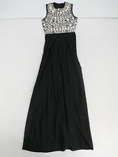 ASOS Women's Mirror Bodice Maxi Dress in Black Size US 2 UK 6 NWT $169