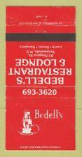 Matchbook Cover - Bedell's Restaurant Lounge Tonawanda NY WEAR 30 Strike