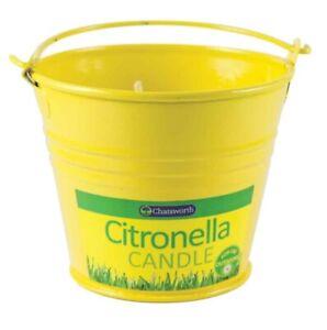 Citronella Candle Bucket Jar Tin Light Lemon Fly Outdoor BBQ Garden Table Heater
