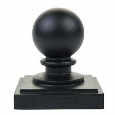 "Nuvo Iron PCB04 5.5"" x 5.5"" (Nominal 6"" x 6"") Ball Post Cap Black Fences"