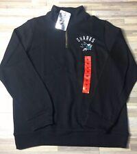 online retailer a621c 52596 NHL San Jose Sharks 1 4 Zip Pullover Sweater Heavyweight Men s MEDIUM Black  NWT