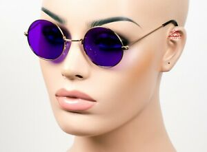 Small Round Metal Classic John Lennon Vintage Style Sunglasses Every Color 700