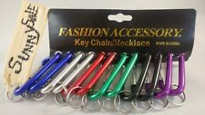 "12 Pack of 3"" Carabiner Spring Belt Clip Lot Snap Key Chain 75mm Aluminum color"