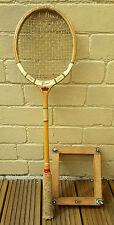 Vintage Slazenger Squash Racket - The Whippet - Grays Wooden Press Frame