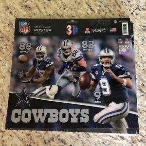 NFL 3D Player Poster Dallas Cowboys 88 82 9 NEW Lenticular 9x12 NFLPA FREE US SH