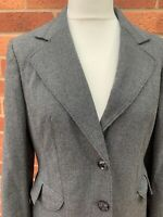 Autonomy Grey Blazer 14 Ladies Smart Jacket Lined Soft Tailored Work Office