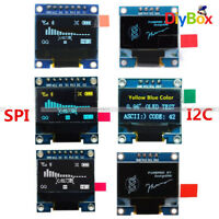"0.96"" OLED I2C IIC SPI Serial 128X64 LCD LED Display Module White Blue Yellow"