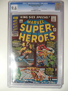 Marvel Super-Heroes 1 cgc 9.6 1966 FIRST  MARVEL ONE SHOT! Daredevil
