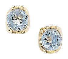 9Carat Yellow Gold Topaz Butterfly Fine Earrings