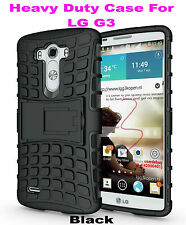 Black Strong Handyman TPU Hard Case Cover Stand for LG G3, Heavy Duty & Tough
