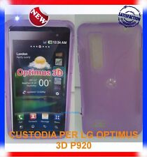 Pellicola+Custodia EYE/PURPLE per LG OPTIMUS 3D P920