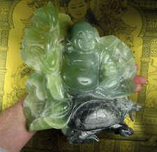 HUGE Tibetan REAL JADE BUDDHA DRAGON carving. 2.15 kilo. ( 4.7 lbs)