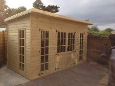 20x10 Pent Summer House Garden Office Shed Summerhouse Log Cabin Gym 16mm T&G