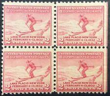 1932 2c Winter Olympics commemorative Block of 4, Scott #716, MNG, Fine, SE