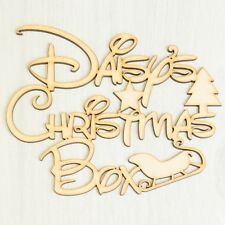 Personalised Disney Christmas Box Topper Wooden Memory Box Xmas Any Name Plaque