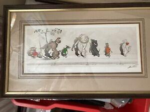 Boris O'Klein 'Dirty Dogs Of Paris' 2 Framed Signed Prints