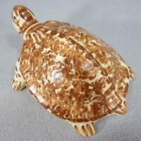 Brush Pottery Turtle - Rare Color - Brush McCoy Spongeware Art Pottery