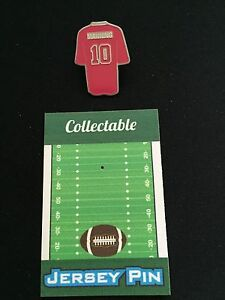 New York Giants Eli Manning jersey lapel pin-Collectable-2X CHAMP