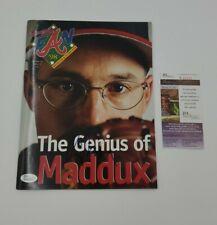 Greg Maddux Signed Magazine Atlanta Braves Fan '98 JSA COA