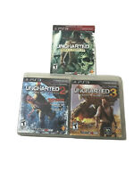 PS3 Uncharted Bundle - Drake's Fortune, Among Thieves, and Drake's Deception