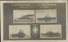 Italian Navy Battleships RPPC RN Benedetto Brin Saint Bon Filiberto Margherita
