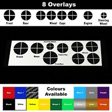 Quarter Overlay Stickers Vinyl Skins For BMW E90 E92 E93 M3 M5 Badge