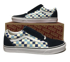 Vans Old Skool Checkerboard Mens Size 11 Blue Topaz Sneakers Skateboarding Shoes