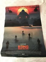KONG : SKULL ISLAND MOVIE POSTER Mint Original DS 27x40 Advance Style 2017 Film